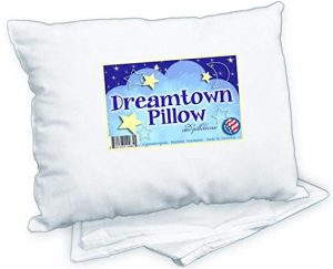 Dreamtown Kids Toddler Pillow With Pillowcase